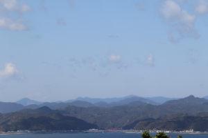 樫野埼灯台からの串本町の景色